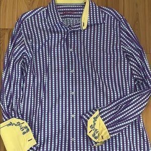 L/XL Robert Graham long sleeve dress shirt